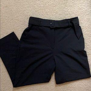 H&M black high waist trousers